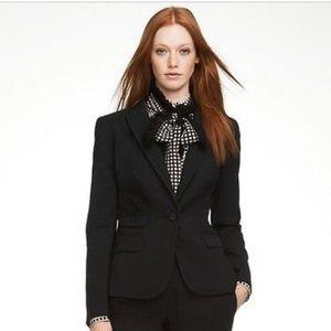 Tory Burch Renee Black Stretch Blazer Size 8